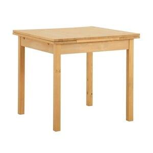 Rozkladací jedálenský stôl z borovicového dreva Støraa Marlon, 80 x 80 cm