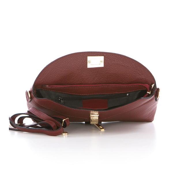 Vínová kožená kabelka Federica Bass Dione