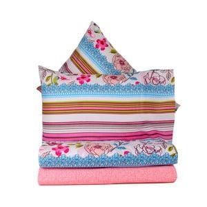 Ružové obliečky s plachtou Love Colors Bloom, 160 x 220 cm