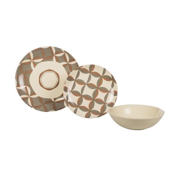 Sada 18 ks keramických tanierov Pavé