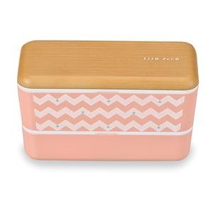 Desiatový box Wave Pink, 580 ml