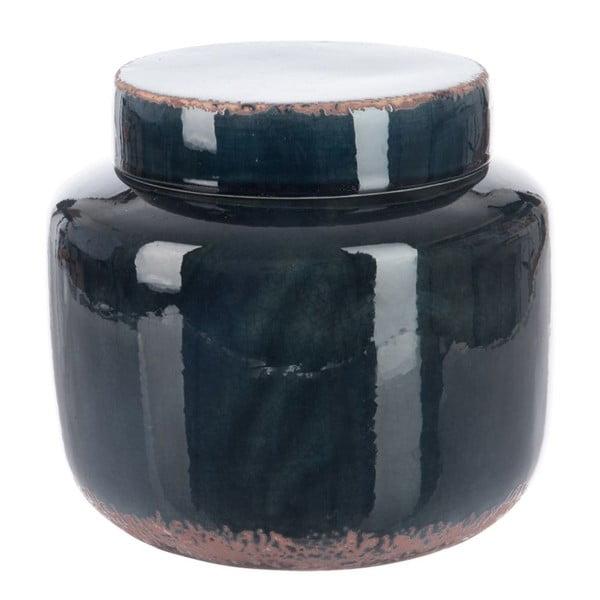 Dóza Dark Petrol, 21x21x20 cm