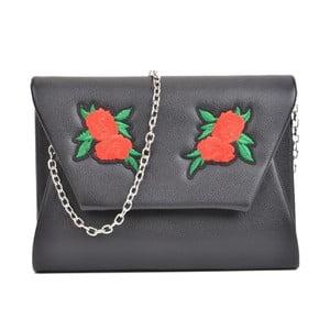 Čierna listová kabelka Mangotti Bags Belarosa