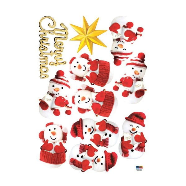 Sada 11 vianočných samolepiek Fanastick Snowmen