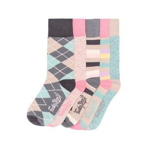Sada 5 párov farebných ponožiek Funky Steps Good Morning, veľ. 35-39