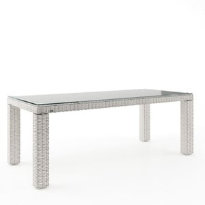 Biely záhradný stôl Oltre Rapallo, 200cm