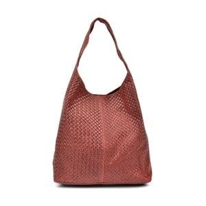 Červená kožená kabelka Mangotti Carol