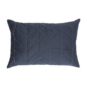 Modrá prešívaná obliečka na vankúš A Simple Mess Molly, 60×40cm