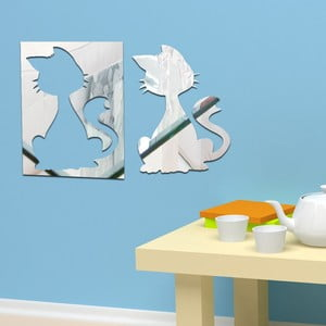 Dekoratívne zrkadlo Dve mačky