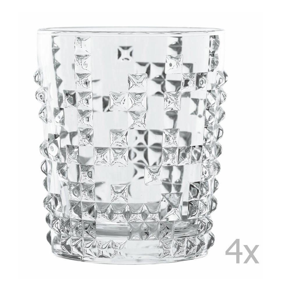 Sada 4 pohárov na whisky z krištáľového skla Nachtmann Punk, 348 ml