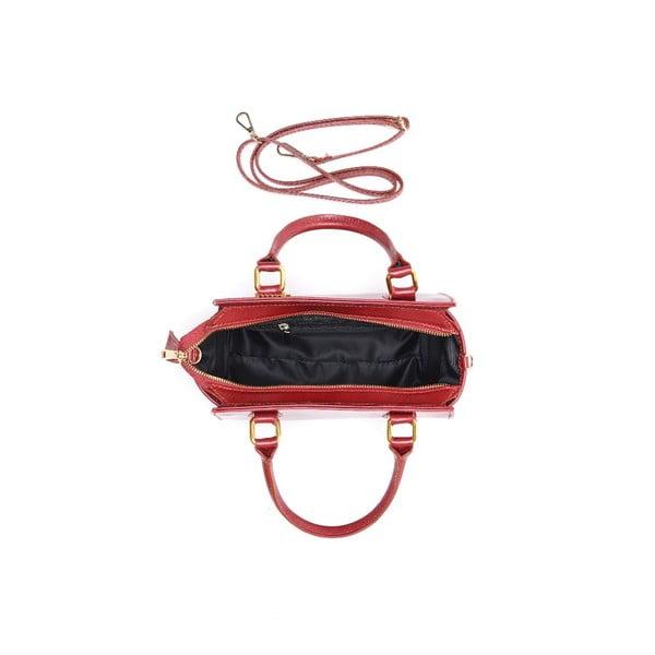 Kožená kabelka Carla Ferreri 382 Rosso