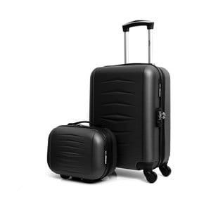 Set čierneho cestovného kufora na kolieskach a kufríka INFINITIF