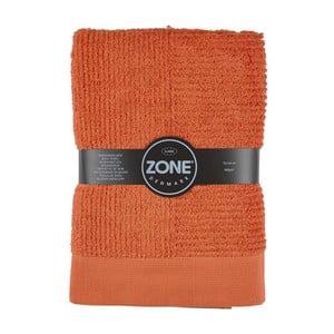 Oranžová osuška Zone, 70x140 cm