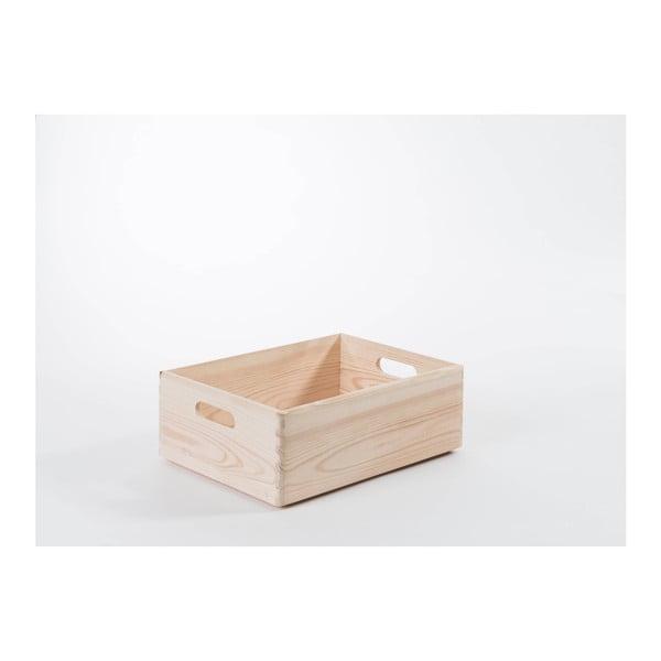 Úložný box z borovicového dreva Compactor Custom, 40×30×14 cm