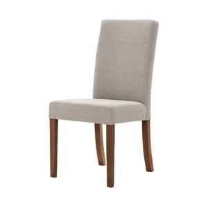 Sivo-hnedá stolička s tmavohnedými nohami Ted Lapidus Maison Tonka
