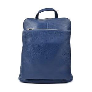 Modrý kožený batoh Isabella Rhea Hurto