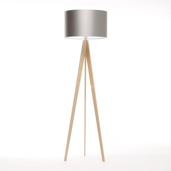 Stojacia lampa Artista Birch/Silver, 125x42 cm