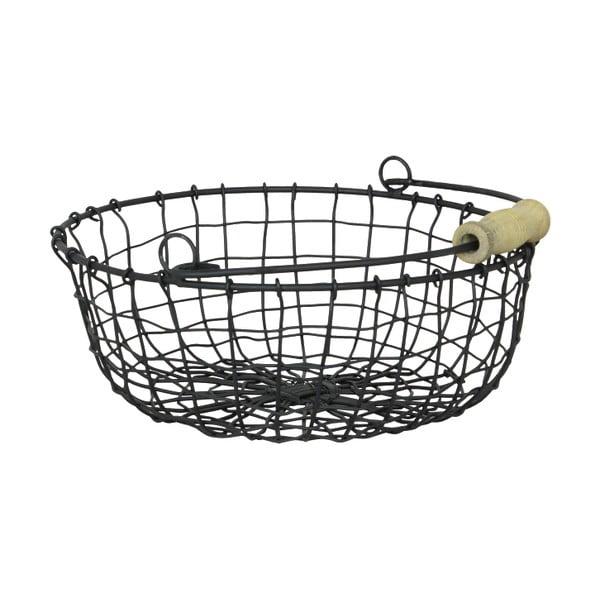 Drôtený košík Round, 3 ks