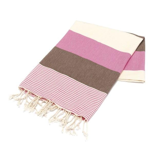 Hammam osuška American Stripes Pink, 100 x 180 cm