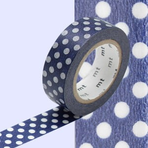 Washi páska Dot Blue Base