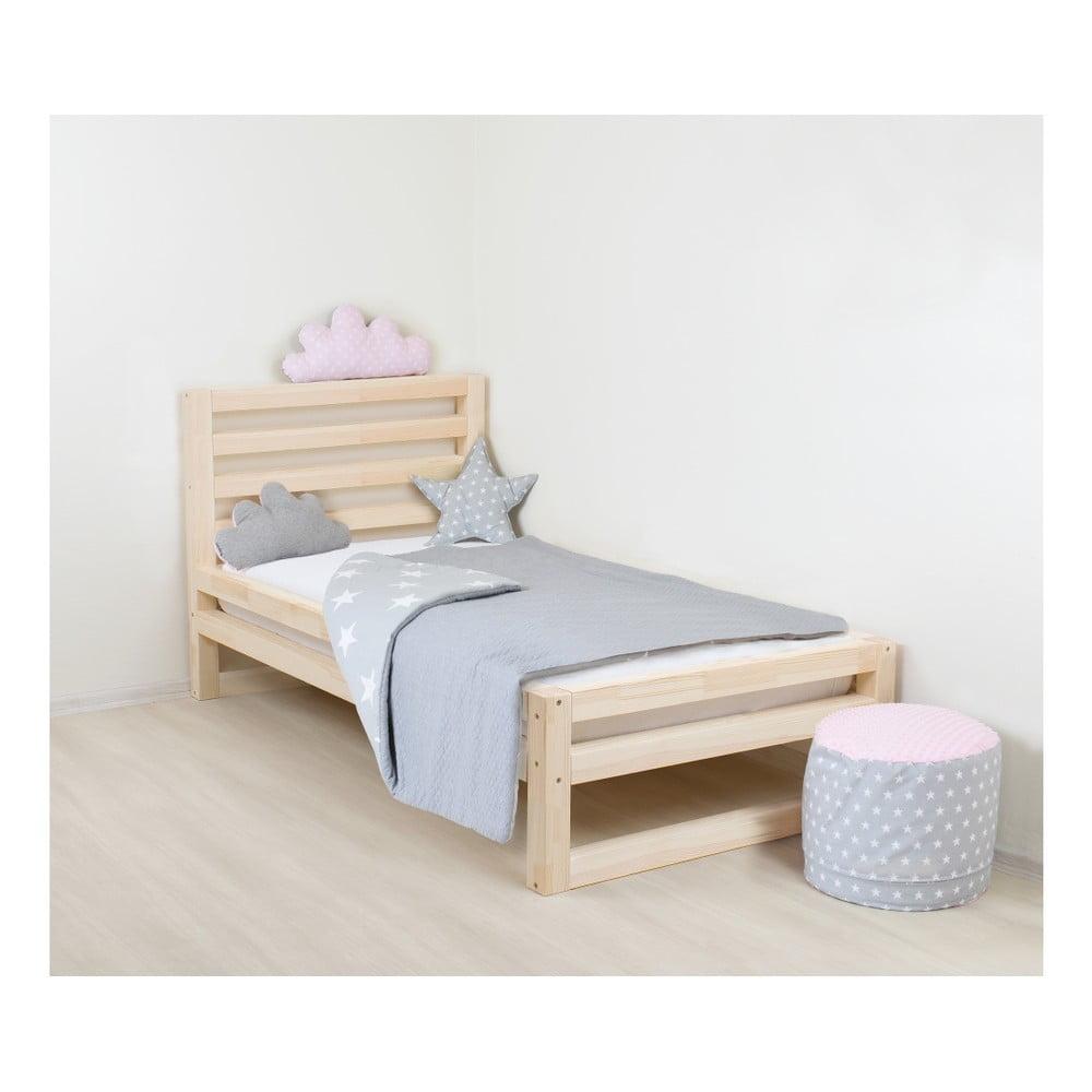 Detská drevená jednolôžková posteľ Benlemi DeLuxe Nativa, 160 × 90 cm
