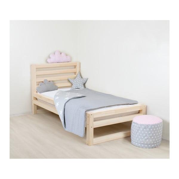 Detská drevená jednolôžková posteľ Benlemi DeLuxe Natival, 180 × 80 cm