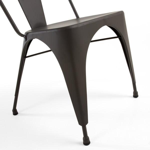 Stolička Malibu grafitovo sivá
