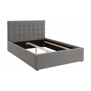 Sivá dvojlôžková posteľ Støraa Ajay, 140 x 200 cm