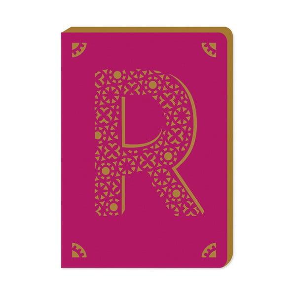Linajkový zápisník A6 s monogramom Portico Designs R, 160stránok