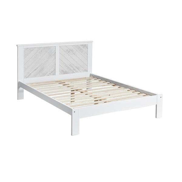 Biela dvojlôžková posteľ Marckeric Roma, 140 × 190 cm