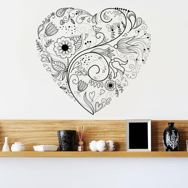 Dekoratívna samolepka na stenu Floral Heart