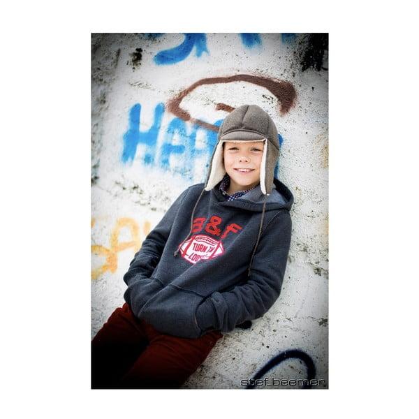 Detská hnedá čapica s ochrannými prvkami Ribcap Bieber, veľ. L