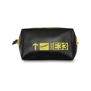 Čierne cestovné kozmetické puzdro so žltým detailom Hero Gate