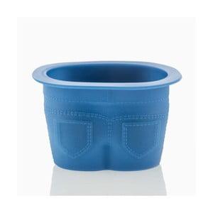 Sada 4 modrých silikónových formičiek na muffiny v tvare nohavíc InnovaGoods