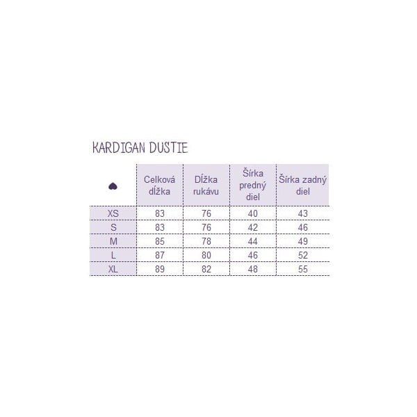 Kardigan Dustie, veľkosť L