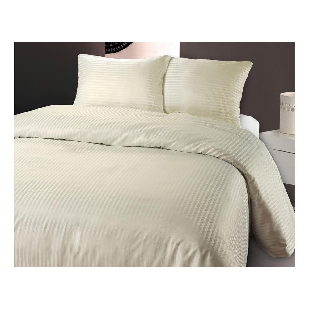 Krémové obliečky z mikroperkálu na jednolôžko Sleeptime Dallas, 140 × 200 cm