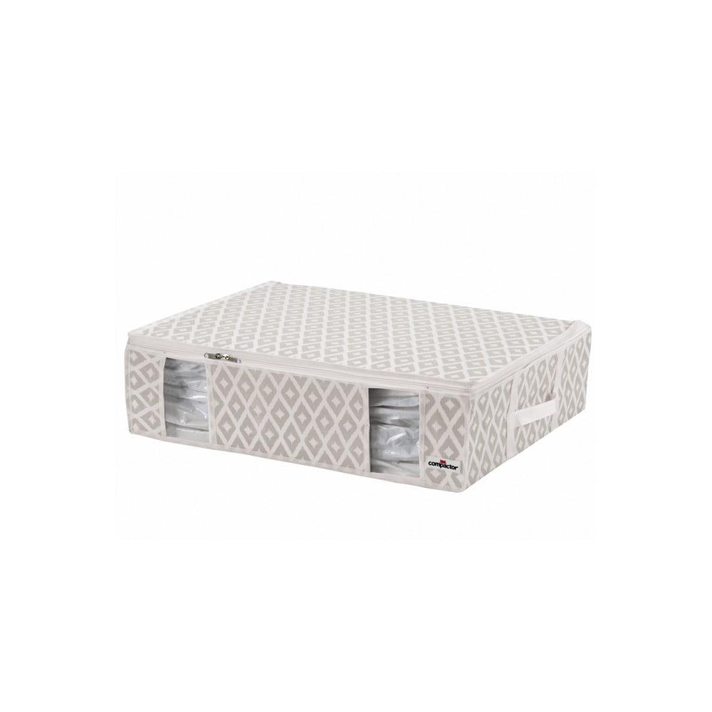 Béžový vakuový úložný box na oblečenie Compactor Signature Daman 3D Vacuum Bag, 65 x 15,5 cm