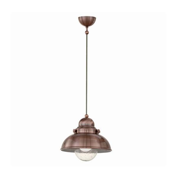 Závesné svetlo Crido Loft Copper, 29 cm