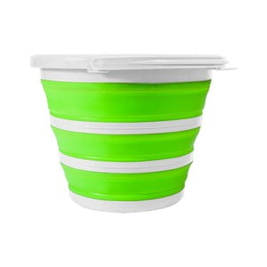 Zeleno-biela skladacia dóza Jocca, 34 cm