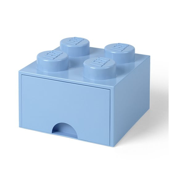 Svetlomodrý úložný box štvorec LEGO®