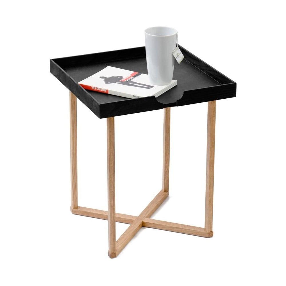 Čierny odkladací stolík Wireworks Damieh, 37 x 45 cm