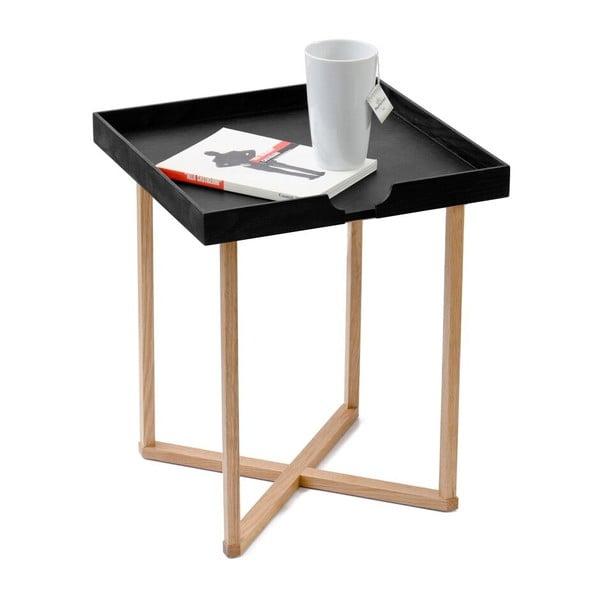 Čierny odkladací stolík Wireworks Damieh, 37x45cm