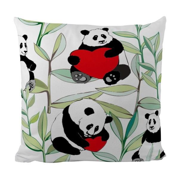 Vankúš Panda With Bamboo, 50x50 cm