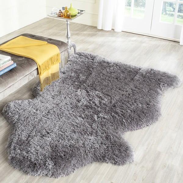 Čierny ručne vyšívaný koberec Safavieh Tegan, 91x152 cm