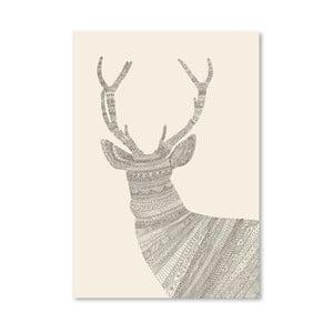 Plagát Stag od Florenta Bodart, 30x42 cm