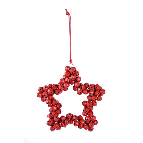 Závesná dekoratívna hviezda z rolničiek Ego Dekor Bells