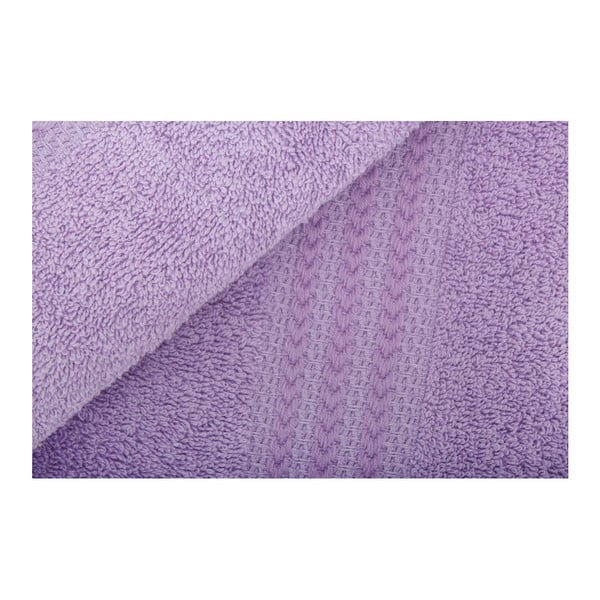 Set 3 fialových uterákov a osušky Rainbow