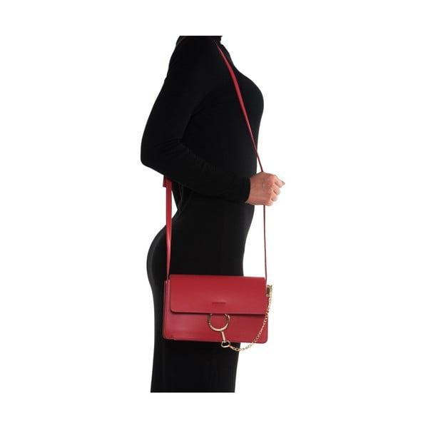 Kožená kabelka Mangotti 3038 Rosso