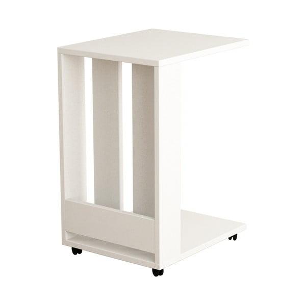 Biely odkladací stolík Edi