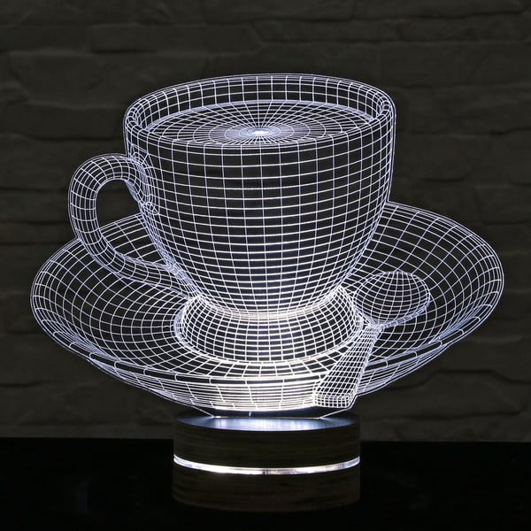 3D stolová lampa Cup of Tea